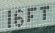 16 feet in pool tiles: