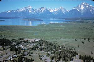 aerial photo of Jackson Lake Lodge: