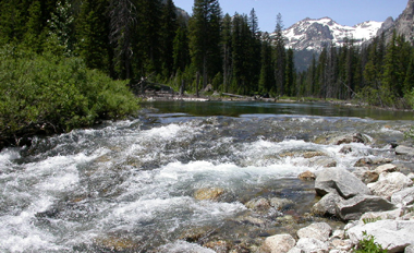 Cascade Creek at second talus slope: