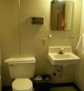 Colter Bay cabin bathroom: