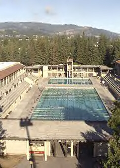 aerial photo of pool: aerial photo of De Anza pool