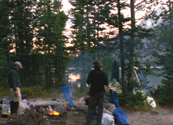 Leigh lake overnight 2005: