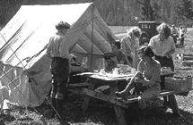 girls camping 1932 NPS archive photo: