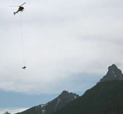 NPS photo of short haul helicopter rescue: