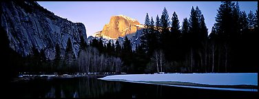 Quang-Tuan Luong winter sunset Half Dome: photo by Quang-Tuan Luong winter Yosemite sunset with Half Dome in pink light