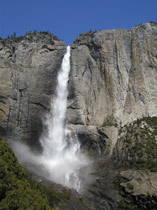Upper Yosemite Fall May 18, 2003 NPS photo: