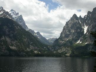 Cascade Canyon from across Jenny Lake: