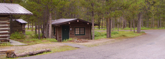 colter bay 1 bdrm cabin 2 dbl 1 single: cabin at intersection of two roads