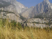 dried up Yosemite Falls in September NPS: