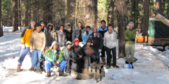 group photo winter 2010: group photo in a snowy Yosemite campsite winter 2010