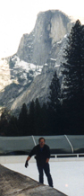 ice skater Yosemite rink: