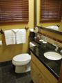 Jenny lake lodge bathroom: jenny lake lodge guest bathroom sink area