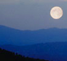 nps photo full moon and hills 120 pixels: full moon and three rows of hills