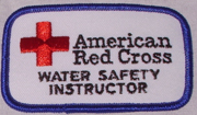 patch American Red Cross Water Safety Instructor: a patch that says American Red Cross Water Safety Instructor