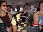 people in van at Tuolumne: