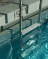 pool ladder and gutter: