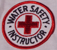 round water safety instructor patch: a round water safety instructor patch.