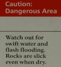 sign dangerous area: