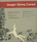 sign danger strong current: