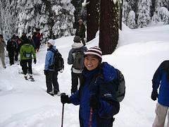snowshoe walk 2008 photot by Richard Neimrec: