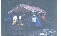 snowcamp group dark morning unknown year: