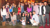 snow camp brunch group photo 2015 210 pixels: people after the Ahwahnee brunch