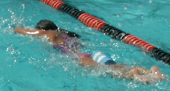swimmer with pull buoy:
