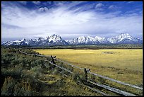 tetons and fence terragalleria: