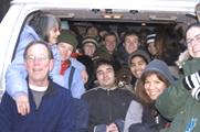20 people in a van: 20 people in a van or sitting on the tailgate