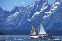 Signal Mountain Lodge sailboat photo used with permission: