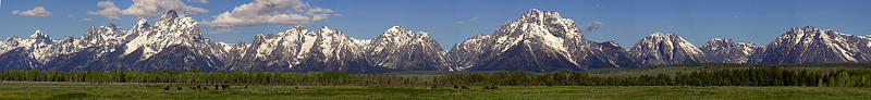 WY_TetonRange copyright EJ Peiker: sagebrush in foreground; a long row of snow capped mountains