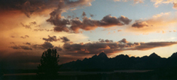 sunset lunch tree hill Grand Tetons: