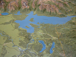 all ofJackson Lake raised relief map:
