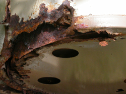 rusted hot water heater: