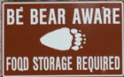 sign be bear aware tetons: