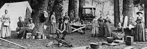 nps historical photo 1890 camping in Yosemite