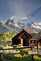 chapel of the transfiguration by Ron Niebrugge: chapel of the transfiguration in Grnd teton park, with the Teton mountains in the background used with permission from the photographer Ron Niebrugge