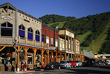 jackson, wyoming by Ron Niebrugge: a street scene of jackson, wyoming, used with permission from the photographer Ron Niebrugge