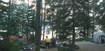 2007 leigh lake campfire: