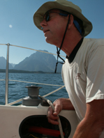 Alan Ahlstrand sailing Jackson Lake tetons 2007:
