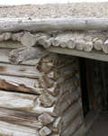 cunningham cabin roof detail: