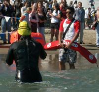 DanoushAhmadiguardingAlcatri 187 pixels: Danoush Ahmadi guarding Alcatri ocean swim
