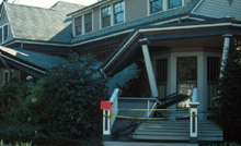 Failure of the porch on a frame house Loma Prieta USGS photo: