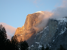 Half Dome sunset Jan 31 2004: