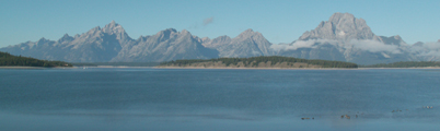 Jackson Lake from the dam: