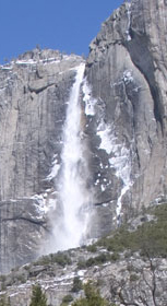NPS Yosemite Falls March overnight ice buildup: