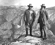 NPS historic photo collection Muir and Roosevelt at Glacier Point: