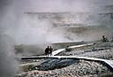 NPS photo Norris Geyser Basin people on boardwalk: