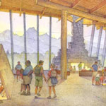 NPS rendering of 2007 Grand Teton Visitor Center: