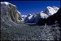 QT Luong Yosemite valley from tunnel winter snow:
